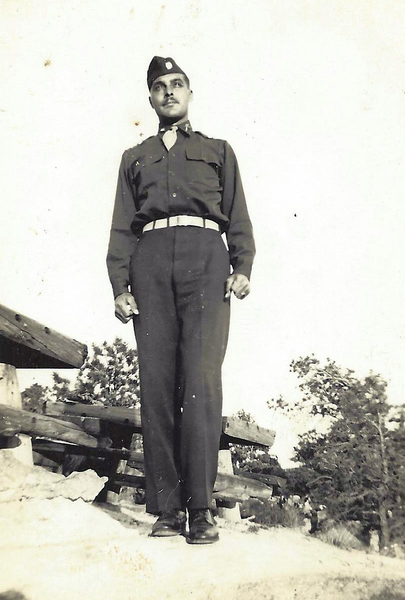 Arthur Thomas Nichols serving in the Army in Europe during World War II
