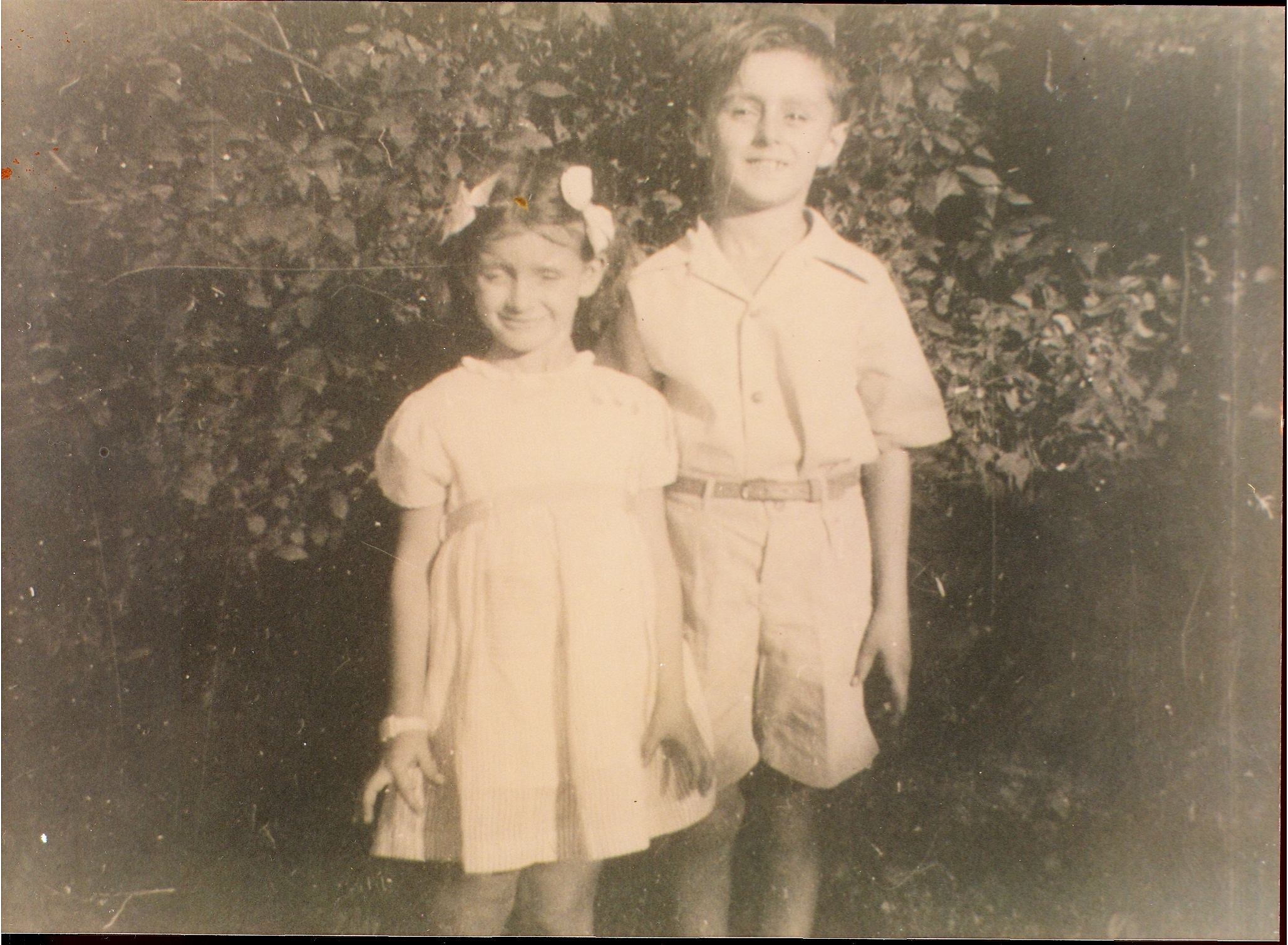 Beverly Ann Rudolph and her brother John Mason Rudolph Jr.