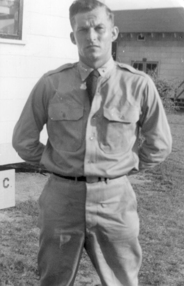 Robert Ernest Rudolph at Air Force ROTC Summer Camp in 1952